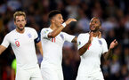 SOUTHAMPTON, ENGLAND - SEPTEMBER 10: L to R Harry Kane, Jadon Sancho and Raheem Sterling of England during the UEFA Euro 2020 qualifier match between England and Kosovo at St. Mary's Stadium on September 10, 2019 in Southampton, England. (Photo by Matt Watson/Southampton FC via Getty Images)