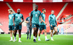 SOUTHAMPTON, ENGLAND - SEPTEMBER 12: Kevin Danso during a Southampton FC training session at St Mary's stadium on September 12, 2019 in Southampton, England. (Photo by Matt Watson/Southampton FC via Getty Images)