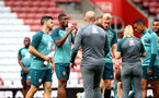 SOUTHAMPTON, ENGLAND - SEPTEMBER 12: Kevin Danso drinks from a Wow Hydrate bottle during a Southampton FC training session at St Mary's stadium on September 12, 2019 in Southampton, England. (Photo by Matt Watson/Southampton FC via Getty Images)