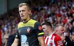 SHEFFIELD, ENGLAND - SEPTEMBER 14: James Ward-Prowse of during the Premier League match between Sheffield United and Southampton FC at Bramall Lane on September 14, 2019 in Sheffield, United Kingdom. (Photo by Matt Watson/Southampton FC via Getty Images)