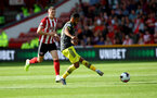 SHEFFIELD, ENGLAND - SEPTEMBER 14: Sofiane Boufal of during the Premier League match between Sheffield United and Southampton FC at Bramall Lane on September 14, 2019 in Sheffield, United Kingdom. (Photo by Matt Watson/Southampton FC via Getty Images)