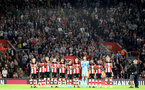 SOUTHAMPTON, ENGLAND - SEPTEMBER 20: Saints during the Premier League match between Southampton FC and AFC Bournemouth at St Mary's Stadium on September 21, 2019 in Southampton, United Kingdom. (Photo by Chris Moorhouse/Southampton FC via Getty Images)