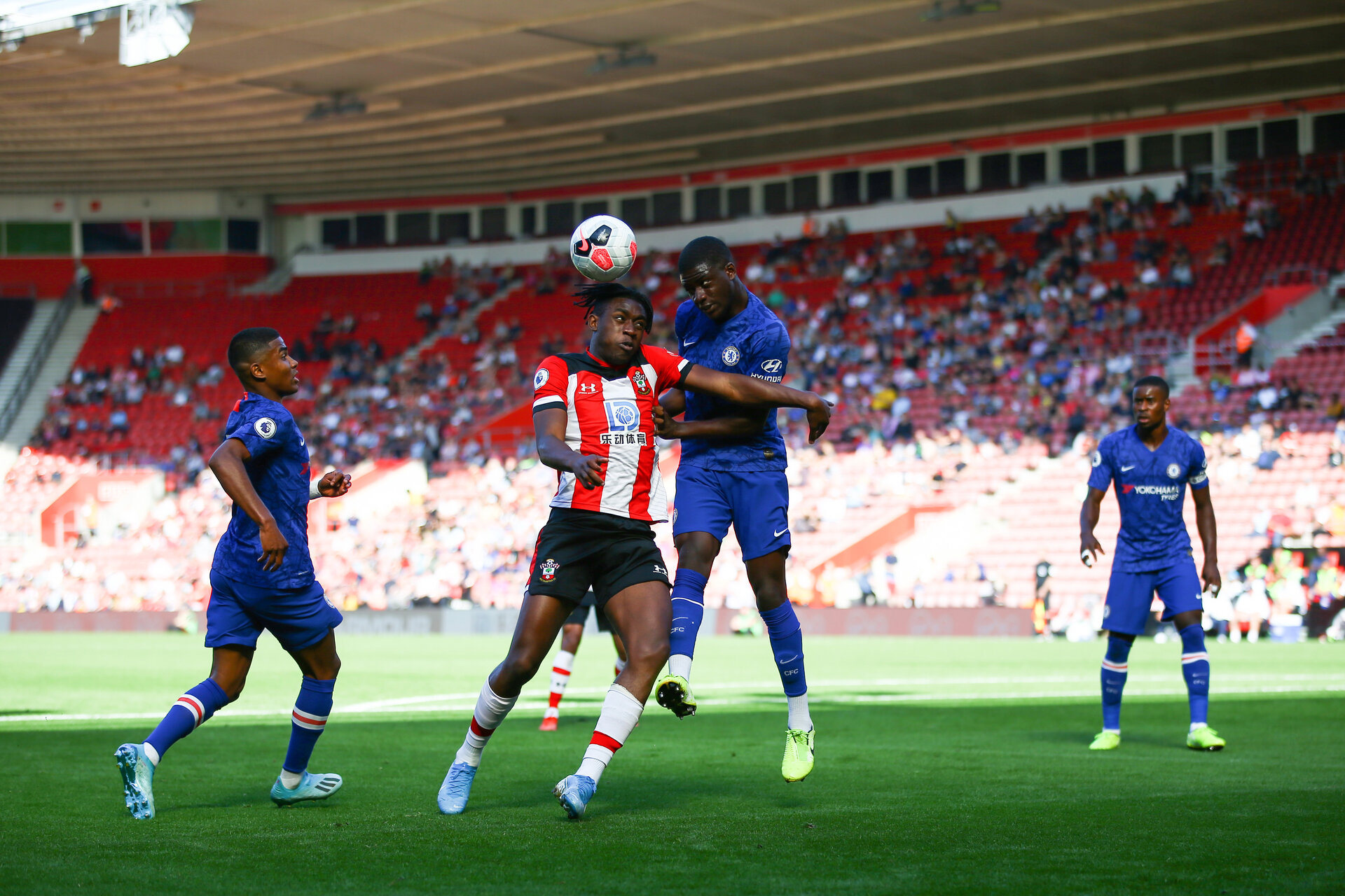 Dan N'Lundulu during Premier League 2 match between Southampton FC U23 and Chelsea, at St Mary's Stadium, Southampton, 21th September 2019 (pic Isabelle Field)