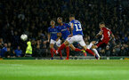 PORTSMOUTH, ENGLAND - SEPTEMBER 24: Danny Ings of Southampton shoots at goal during the Carabao Cup Third Round match between Portsmouth and Southampton at Fratton Park on September 24, 2019 in Portsmouth, England. (Photo by Matt Watson/Southampton FC via Getty Images)