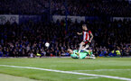 PORTSMOUTH, ENGLAND - SEPTEMBER 24: Danny Ings(R) of Southampton scores his second of the game and puts his team 2-0 up during the Carabao Cup Third Round match between Portsmouth and Southampton at Fratton Park on September 24, 2019 in Portsmouth, England. (Photo by Matt Watson/Southampton FC via Getty Images)