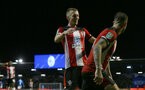PORTSMOUTH, ENGLAND - SEPTEMBER 24:  James Ward-Prowse of Southampton celebrates with Danny Ings during the Carabao Cup Third Round match between Portsmouth and Southampton at Fratton Park on September 24, 2019 in Portsmouth, England. (Photo by Matt Watson/Southampton FC via Getty Images)