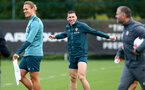 SOUTHAMPTON, ENGLAND - SEPTEMBER 26: Pierre-Emile Hojbjerg during a Southampton FC training session at the Staplewood Campus on September 26, 2019 in Southampton, England. (Photo by Matt Watson/Southampton FC via Getty Images)