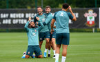 SOUTHAMPTON, ENGLAND - SEPTEMBER 26: L to R Ryan Bertrand, Danny Ings and Jack Stephens during a Southampton FC training session at the Staplewood Campus on September 26, 2019 in Southampton, England. (Photo by Matt Watson/Southampton FC via Getty Images)