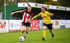 Ella Morris during the Woman's FA Cup, first round between Southampton FC Women and Buckland Athletic, at the Testwood Community Stadium, AFC Totton, Southampton, 13th October 2019 (pic by Isabelle Field)