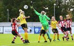 during the Woman's FA Cup, first round between Southampton FC Women and Buckland Athletic, at the Testwood Community Stadium, AFC Totton, Southampton, 13th October 2019 (pic by Isabelle Field)