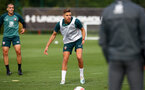 SOUTHAMPTON, ENGLAND - OCTOBER 16: Jan Bednarek during a Southampton FC training session, at the Staplewood Campus, 16th October 2019 in Southampton, England. (Photo by Matt Watson/Southampton FC via Getty Images)