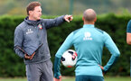 SOUTHAMPTON, ENGLAND - OCTOBER 16: Ralph Hasenhuttl during a Southampton FC training session, at the Staplewood Campus, 16th October 2019 in Southampton, England. (Photo by Matt Watson/Southampton FC via Getty Images)