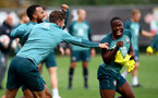 SOUTHAMPTON, ENGLAND - OCTOBER 17: Michael Obafemi during a Southampton FC training session, at the Staplewood Campus, on October 17, 2019 in Southampton, England. (Photo by Matt Watson/Southampton FC via Getty Images)