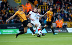 WOLVERHAMPTON, ENGLAND - OCTOBER 19: Pierre-Emile Hojbjerg(R) of Southamptonduring the Premier League match between Wolverhampton Wanderers and Southampton FC at Molineux on October 19, 2019 in Wolverhampton, United Kingdom. (Photo by Matt Watson/Southampton FC via Getty Images)
