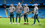 MANCHESTER, ENGLAND - OCTOBER 29:  L to R Ché Adams, Jan Bednarek, Danny Ings and Michael Obafemi of Southampton ahead of the Carabao Cup Round of 16 match between Manchester City and Southampton FC at the Etihad Stadium on October 29, 2019 in Manchester, England. (Photo by Matt Watson/Southampton FC via Getty Images)