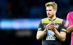MANCHESTER, ENGLAND - OCTOBER 29: Stuart Armstrong of Southampton during the Carabao Cup Round of 16 match between Manchester City and Southampton FC at the Etihad Stadium on October 29, 2019 in Manchester, England. (Photo by Matt Watson/Southampton FC via Getty Images)
