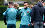 SOUTHAMPTON, ENGLAND - NOVEMBER 05, Sofiane Boufal drinks from a Wow Hydrate bottle during a Southampton FC training session at the Staplewood Complex on November 05, 2019 in Southampton, England. (Photo by Matt Watson/Southampton FC via Getty Images)