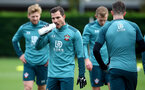 SOUTHAMPTON, ENGLAND - NOVEMBER 05, Cedric Soares drinks from a Wow Hydrate bottle during a Southampton FC training session at the Staplewood Complex on November 05, 2019 in Southampton, England. (Photo by Matt Watson/Southampton FC via Getty Images)