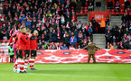 SOUTHAMPTON, ENGLAND - NOVEMBER 09: Saints players during a remembrance day moment silence during the Premier League match between Southampton FC and Everton FC at St Mary's Stadium on November 09, 2019 in Southampton, United Kingdom. (Photo by Matt Watson/Southampton FC via Getty Images)