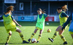 Warm up during the Woman's FA Cup between Southampton FC Women and Chesham United at the Chesham United Football Club, Buckinghamshire, 10th November 2019 (pic by Isabelle Field)