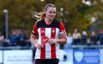 SOUTHAMPTON, ENGLAND - NOVEMBER 17: Shannon Sievwright during Womens Hampshire Cup round 2 match between Southampton FC Women and AFC Bournemouth Women, at the Snows stadium AFC Totton, on November 17, 2019 in Southampton, England. (Photo by Matt Watson/Southampton FC via Getty Images)