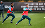 SOUTHAMPTON, ENGLAND - NOVEMBER 20: Maya Yoshida(L) and James Ward-Prowse during a Southampton FC training session at the Staplewood Campus on November 20, 2019 in Southampton, England. (Photo by Matt Watson/Southampton FC via Getty Images)