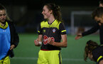 YEOVIL, ENGLAND - November 24: Rachel Panting during the SRWFL at The Avenue between Yeovil and Southampton Women on November 24 2019, Yeovil, England. (Photo by Isabelle Field/Southampton FC via Getty Images)