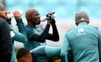 SOUTHAMPTON, ENGLAND - NOVEMBER 26: Moussa Djenepo drinks from a Wow Hydrate bottle during a Southampton FC training session at the Staplewood Campus on November 26, 2019 in Southampton, England. (Photo by Matt Watson/Southampton FC via Getty Images)
