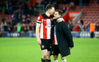 SOUTHAMPTON, ENGLAND - NOVEMBER 30: Pierre-Emile Hojbjerg and Cedric Soares during the Premier League match between Southampton FC and Watford FC at St Mary's Stadium on November 30, 2019 in Southampton, United Kingdom. (Photo by Isabelle Field/Southampton FC via Getty Images)
