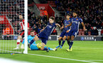 SOUTHAMPTON, ENGLAND - NOVEMBER 30: Shane Long of Southampton see's his shot cleared off the line during the Premier League match between Southampton FC and Watford FC at St Mary's Stadium on November 30, 2019 in Southampton, United Kingdom. (Photo by Matt Watson/Southampton FC via Getty Images)