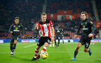 SOUTHAMPTON, ENGLAND - DECEMBER 04: James Ward-Prowse during the Premier League match between Southampton FC and Norwich FC at St Mary's Stadium on December 04, 2019 in Southampton, United Kingdom. (Photo by Isabelle Field/Southampton FC via Getty Images)