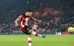 SOUTHAMPTON, ENGLAND - DECEMBER 4: Cedric Soares during the Premier League match between Southampton FC and with Norwich City FC at St Mary's Stadium on December 4, 2019 in Southampton, United Kingdom. (Photo by Chris Moorhouse/Southampton FC via Getty Images)