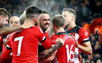 SOUTHAMPTON, ENGLAND - DECEMBER 04: Danny Ings of Southampton celebrates with his team mates during the Premier League match between Southampton FC and Norwich City at St Mary's Stadium on December 04, 2019 in Southampton, United Kingdom. (Photo by Matt Watson/Southampton FC via Getty Images)
