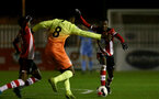 SOUTHAMPTON, ENGLAND - DECEMBER 06: Kgaogelo Chauke during the Premier League 2 match between Southampton FC U23 and Man City U23 at Snows Stadium, AFC Totton on December 06, 2019 in Southampton, United Kingdom. (Photo by Isabelle Field/Southampton FC via Getty Images)