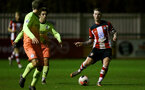 SOUTHAMPTON, ENGLAND - DECEMBER 06: Callum Slattery during the Premier League 2 match between Southampton FC U23 and Man City U23 at Snows Stadium, AFC Totton on December 06, 2019 in Southampton, United Kingdom. (Photo by Isabelle Field/Southampton FC via Getty Images)