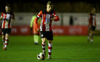 SOUTHAMPTON, ENGLAND - DECEMBER 06: Kornelious Hansen during the Premier League 2 match between Southampton FC U23 and Man City U23 at Snows Stadium, AFC Totton on December 06, 2019 in Southampton, United Kingdom. (Photo by Isabelle Field/Southampton FC via Getty Images)