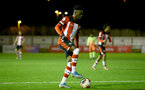 SOUTHAMPTON, ENGLAND - DECEMBER 06: Kazeem Olaigbe  during the Premier League 2 match between Southampton FC U23 and Man City U23 at Snows Stadium, AFC Totton on December 06, 2019 in Southampton, United Kingdom. (Photo by Isabelle Field/Southampton FC via Getty Images)