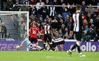 NEWCASTLE UPON TYNE, ENGLAND - DECEMBER 08: Newcastle score during the Premier League match between Newcastle United and Southampton FC at St. James Park on December 08, 2019 in Newcastle upon Tyne, United Kingdom. (Photo by Matt Watson/Southampton FC via Getty Images)