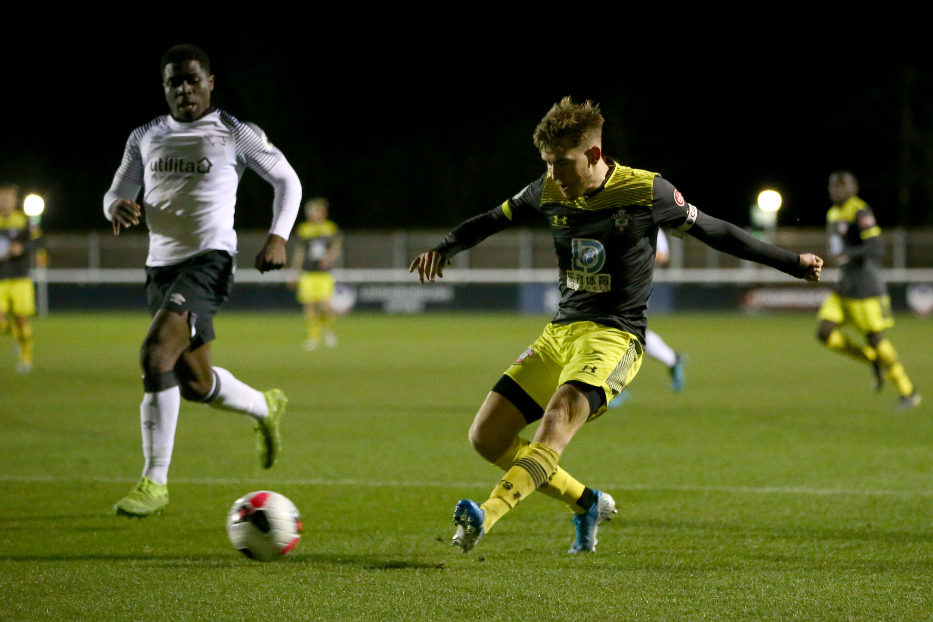 LOUGHBOUROUGH, ENGLAND - DECEMBER 10: of Southampton U23. during Premier League International Cup match between Derby County and Southampton at Loughborough University Stadium on December 10 2019 in Loughborough, England (Photo by Isabelle Field/Southampton FC via Getty Images)
