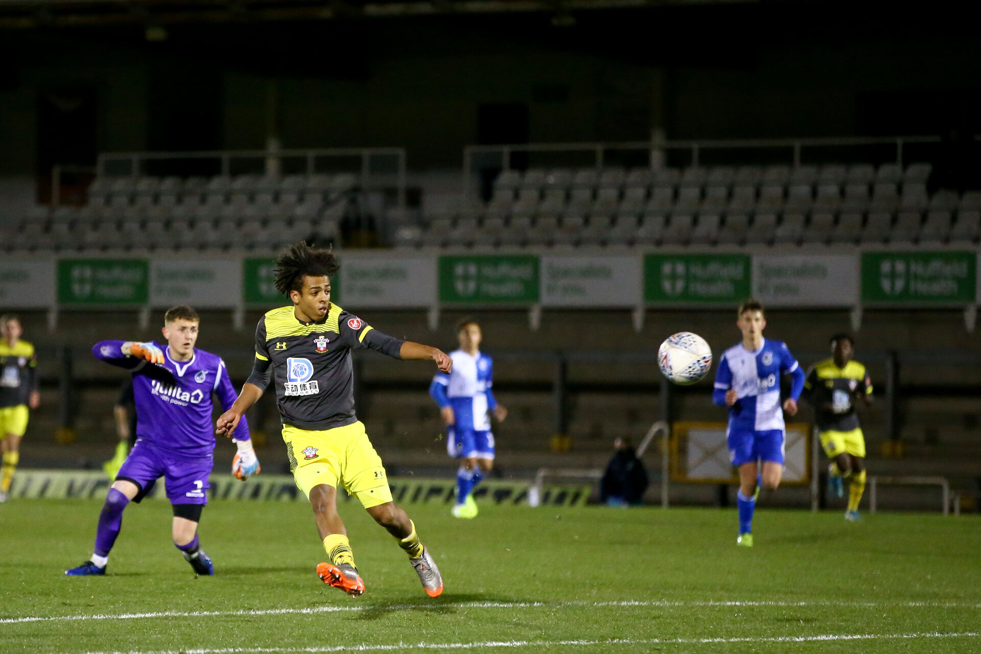 LOUGHBOUROUGH, ENGLAND - DECEMBER 11:  during FA Youth Cup between Bristol Rovers and SouthamptonU18s at Memorial Stadium on December 11 2019 in Bristol, England (Photo by Isabelle Field/Southampton FC via Getty Images)