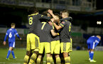 LOUGHBOUROUGH, ENGLAND - DECEMBER 11: team goal celebration during FA Youth Cup between Bristol Rovers and SouthamptonU18s at Memorial Stadium on December 11 2019 in Bristol, England (Photo by Isabelle Field/Southampton FC via Getty Images)