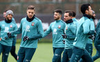 SOUTHAMPTON, ENGLAND - DECEMBER 19: Jan Bednarek(L) during a Southampton FC training session at the Staplewood Campus on December 19, 2019 in Southampton, England. (Photo by Matt Watson/Southampton FC via Getty Images)