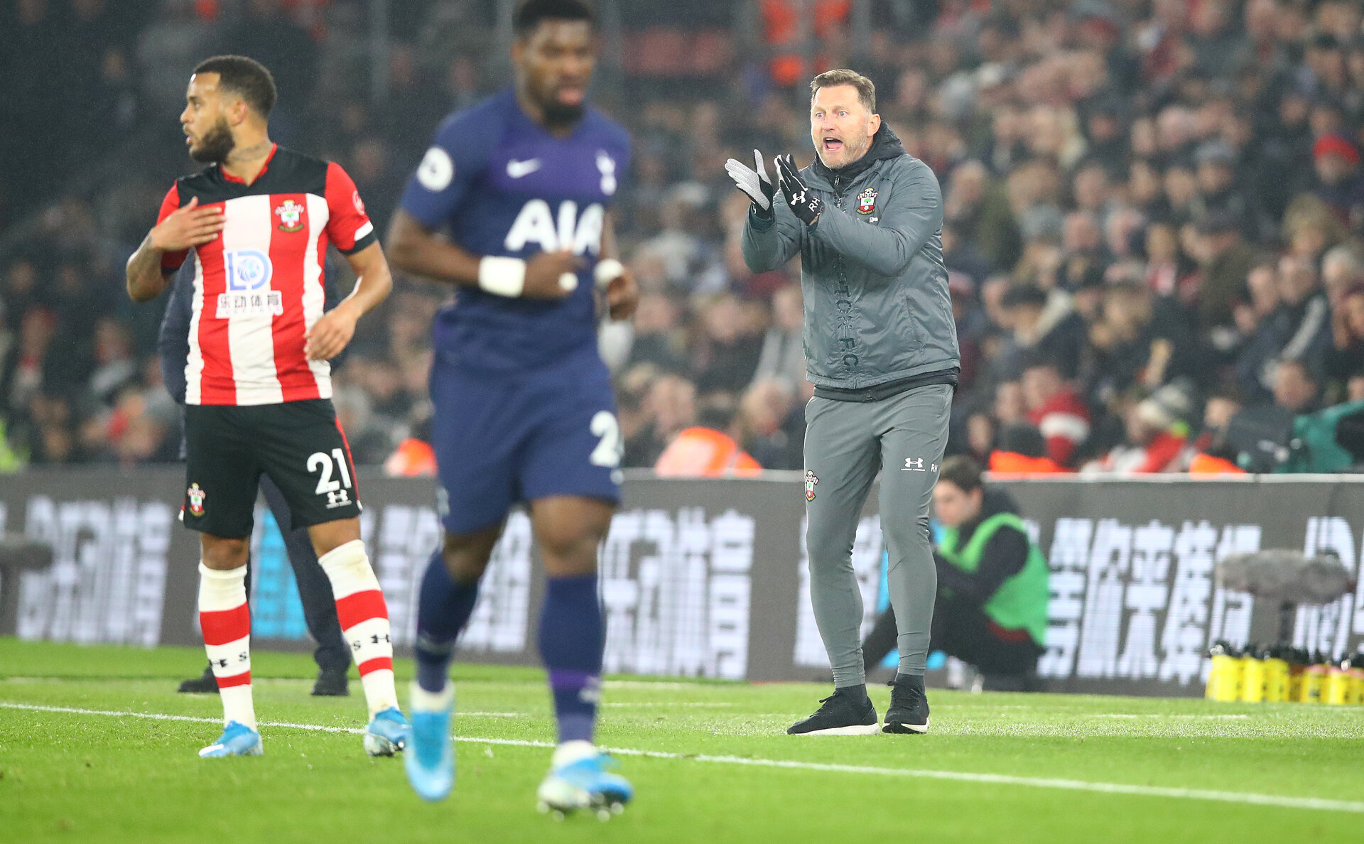 SOUTHAMPTON, ENGLAND - JANUARY 01: Ralph Hasenhuttl of Southampton during the Premier League match between Southampton FC and Tottenham Hotspur at St Mary's Stadium on January 01, 2020 in Southampton, United Kingdom. (Photo by Matt Watson/Southampton FC via Getty Images)