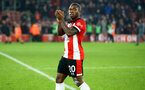 SOUTHAMPTON, ENGLAND - JANUARY 01:  Michael Obafemi post match celebrations after the Premier League match between Southampton FC and Tottenham Hotspur at St Mary's Stadium on January 1, 2020 in Southampton, United Kingdom. (Photo by Isabelle Field/Southampton FC via Getty Images)