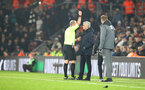 SOUTHAMPTON, ENGLAND - JANUARY 01: Jose Mourinho of Tottenham Hotspur is shown a yellow card by referee Mike Dean during the Premier League match between Southampton FC and Tottenham Hotspur at St Mary's Stadium on January 01, 2020 in Southampton, United Kingdom. (Photo by Matt Watson/Southampton FC via Getty Images)