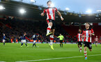 SOUTHAMPTON, ENGLAND - JANUARY 04: Shane Long of Southampton celebrates a goal but it is ruled out by VAR during the FA Cup Third Round match between Southampton FC and Huddersfield Town at St. Mary's Stadium on January 04, 2020 in Southampton, England. (Photo by Matt Watson/Getty Images)