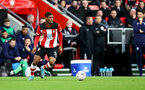SOUTHAMPTON, ENGLAND - JANUARY 04: Kevin Danso of Southampton during the FA Cup Third Round match between Southampton FC and Huddersfield Town at St. Mary's Stadium on January 04, 2020 in Southampton, England. (Photo by Matt Watson/Getty Images)