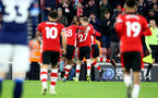 SOUTHAMPTON, ENGLAND - JANUARY 04: Will Smallbone(centre) of Southampton celebrates with Kevin Danso(R) and James Ward-Prowse during the FA Cup Third Round match between Southampton FC and Huddersfield Town at St. Mary's Stadium on January 04, 2020 in Southampton, England. (Photo by Matt Watson/Getty Images)