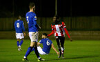 SOUTHAMPTON, ENGLAND - JANUARY 06: Lucas Defise goal celebration during the Premier League 2 match between Southampton U23 and Everton at Staplewood Training Ground on January 6, 2020 in Southampton, United Kingdom. (Photo by Isabelle Field/Southampton FC via Getty Images)