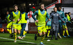 BOREHAMWOOD, ENGLAND - JANUARY 09: Seamas Keogh of Southampton FC (C) warms up prior to the FA Youth Cup Fourth Round match between Arsenal U18s and Southampton FC U18s at Meadow Park on January 09, 2020 in Borehamwood, England